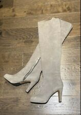 Aldo Grey Suede Over The Knee Boots Size 10