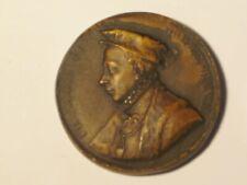 1 vintage Italy faux resin? coin token 3D Francois II Roi De France figure F