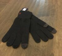 Polo Ralph Lauren Cotton Wool Touch Screen Gloves Men's One Size Navy Blue