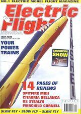 ELECTRIC FLIGHT MAGAZINE 2000 MAY SPITFIRE MKII, B2 STEALTH, FAIRCHILD CORNELL