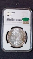 1881 S Morgan Dollar NGC & CAC MS-66 Lustrous High Level of Eye Appeal  $1