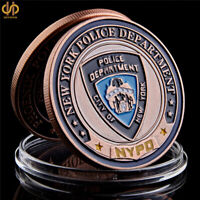 USA New York Department Police Coin Saint Michael Bronze Token Challenge Coin