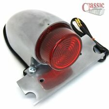 Sparto Tail light Polished Extended lens Harley Custom Bobber Cycle Haven