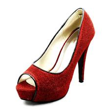 Mujer Tacón Alto Zapatos de Plataforma Brillante Boda Fiesta Graduación