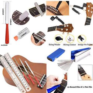Luthier Guitar Care Repair Maintenance Tool Full Set Guitar Plier Files Ruler