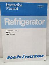 Kelvinator Refrigerator Instruction Manual Top Freezer No Frost 197851 1990