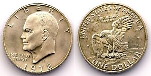 EEUU - 1 Dolar. 1972. Eisenhower. SC/UNC. Plata 24,5 g.