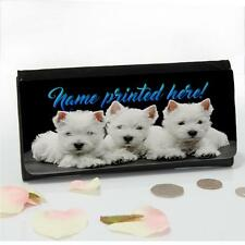 Personalised West Highland Westie Ladies Large Money Coin Purse Mum Gift ST071