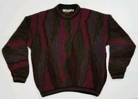 Vintage Bachrach Tundra Sweater L Oversized Cosby 1980s Cotton Knit EUC