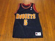 Men's VTG Champion NBA Denver Nuggets Jalen Rose Away Jersey sz 36