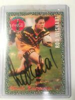 1995 AUS Rugby League Coca Cola Kangaroos Classic No18 Signed Rod Wishart RARE