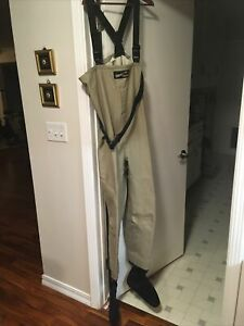 Simms L Gore-Tex Chest Waders Fishing Stockingfoot Tall Long Suspenders USA