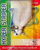 NEW! BayCoast Hyper Striper Lure with Spinner, 3/8 oz, Pearl 1HS382 1HS38-2