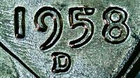 1958 D LINCOLN WHEAT CENT STRONG DDO & DDR & RPM D Over D! UNC BU MS+ WOW! LOOK!