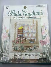 Paula Vaughan June Bride golden needle collection counted cross stitch