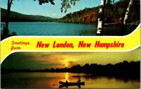 Vintage Postcard Greetings From New London New Hampshire Unposted