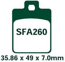 EBC Bremsbeläge SFA260 HINTEN PIAGGIO NRG 50 MC3 DD  (Rear Disc Model) 01-05
