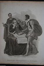 Original 1800-1899 Originaldrucke (1800-1899) mit Porträt & Persönlichkeiten und Kupferstich