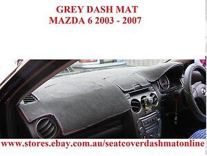 DASH MAT,GREY DASHMAT,  DASHBOARD COVER FIT MAZDA 6  2003 - 2007,  GREY