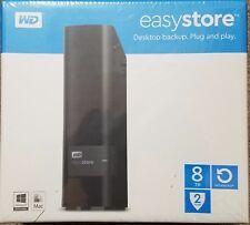 WD easystore 8TB External USB 3.0 Hard Drive Black WDBCKA0080HBK-NESN New!