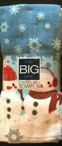 Adorable Set Of 5 Snowman Winter Dish Hand Tea Bar Towels GREAT GIFT