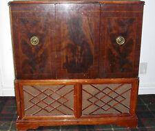 1950's Rca Victrola Radio-Phonograph Tv Great old Vintage Television Set Ta-169