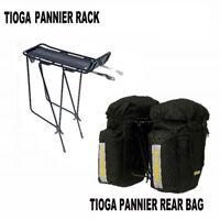Tioga (Azur) Pannier Rear Rack  & Panniers Bike/Bicycle Bags Set Combo - Black