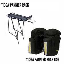 Tioga (Azur) Pannier Rear Rack  & Panniers Bike/Bicycle Bags Set Combo - Black