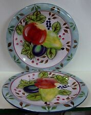 Heritage Mint  BLACK FOREST FRUITS Salad Plates SOLD IN PAIRS More Avail NEW