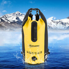 Outsunny Étanche Dry Sac Sac Téléphone Randonnée Pêche en PVC Jaune 20 L rafting