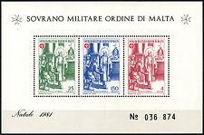 Malta Military Order At Vatican City 1981 MNH M/S #D40583