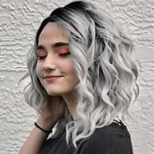 UK Women Halloween Ombre Blonde Short / Long Curly Wavy Wig Ladies Cosplay Wigs