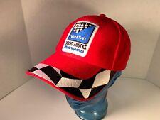 Volvo Trucks Motorsports Hat Cap Adjustable Strapback Red Checkered Flag