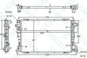 1998-2002 Ford Lincoln Mercury Radiator Assembly 9394 Visteon