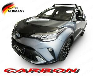 CARBON LOOK BONNET BRA fits TOYOTA C-HR since 2016 STONEGUARD PROTECTOR TUNING