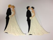 4 Bride Groom Couples Wedding Card Making Scrapbook Craft Embellishments (set 2)