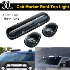 Clear Lens 30LED Cab Marker Roof Clearance Lights Assembly for 02-07 GMC Chevy