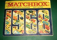 Vintage 1968 Matchbox Collectors Catalogue,England,Lesney Cars & Trucks,HO Scale