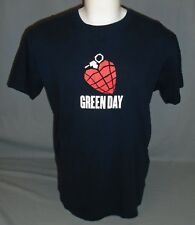 Green Day American Idiot Grenade Black Short Sleeve T-Shirt Size Large