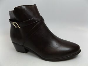 Valerie Stevens Haliday Ankle Boots-Women's SZ 10.0 M DK Brown NEW DISPLAY D8746