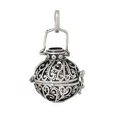 5 Antik Silber Käfig Anhänger für Bola Klangkugel Mexican Ball Halskette