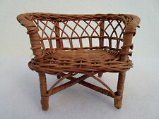 Wicker Love Seat Chair Doll House Furniture
