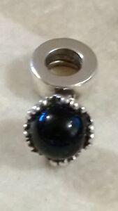GENUINE PANDORA Sterling Silver 925ale Black Ball Onyx Dangle 790379O