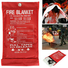 Emergency Fire Blanket Quick Release In Case For Home&Office 1m*1m*0.3mm D3K9