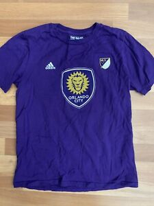 Adidas Orlando City Kaka #10 MLS Soccer purple T Shirt Top Size 14/16 L Large