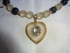 BIJOU 18 VINTAGE 80 Collier perles verre / GLASS PEARLS NECKLACE JEWEL VTGE 80