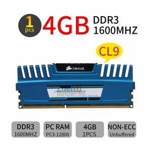 4GB DDR3 1600MHz PC3-12800U Corsair Vengeance CL9 240Pin 1.5v DIMM Memory RAM BT