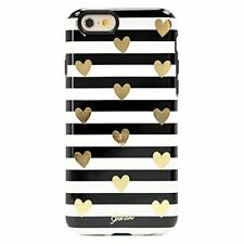 New OEM Sonix Clear Coat Heart Stripe Gold Case For iPhone 6/6s