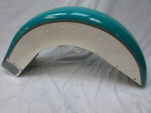 Harley EVO Heritage Softail front fender (real teal/birch white) NTO 1992-1997