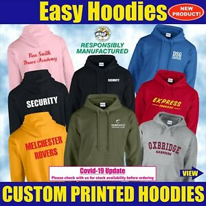 Custom Hoodie Personalised Team Uniform Workwear Stag Hen Event Unisex